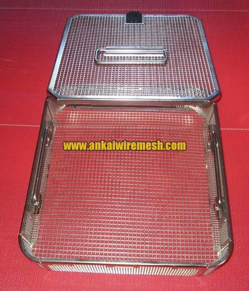 Perforated Stainless Steel Basket Tray
