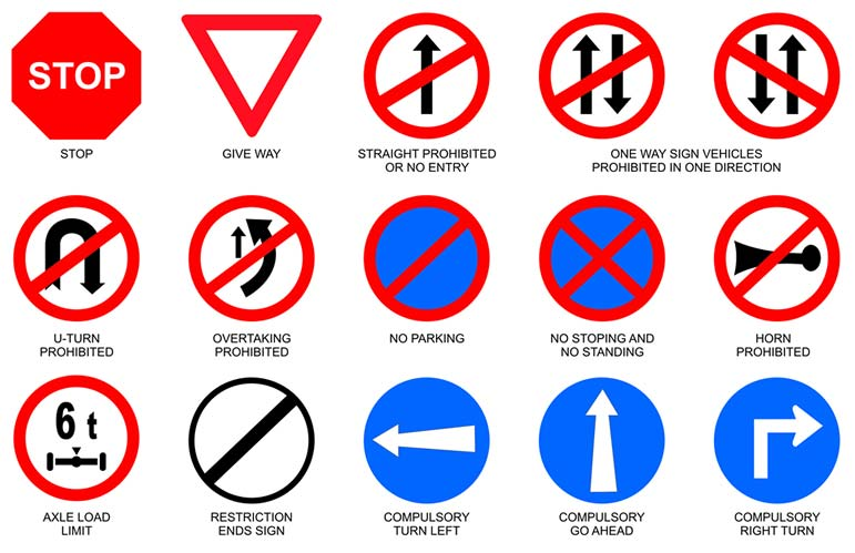 Mandatory Sign Boards
