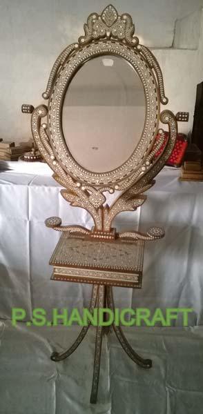 Wooden Folding Mirror