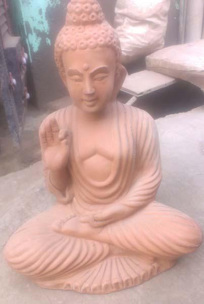 Terracotta Gautam Buddha Statue