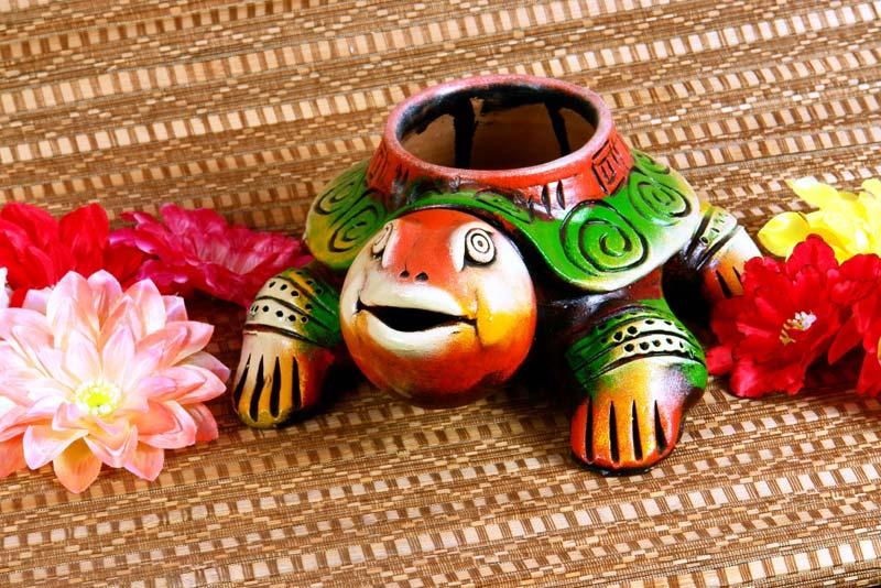 Terracotta Tortoise Planter