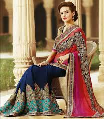 Embroidered Designer Saree 01