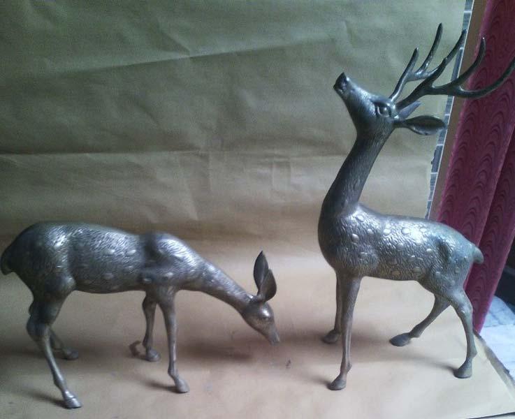 Brass Deer Statue