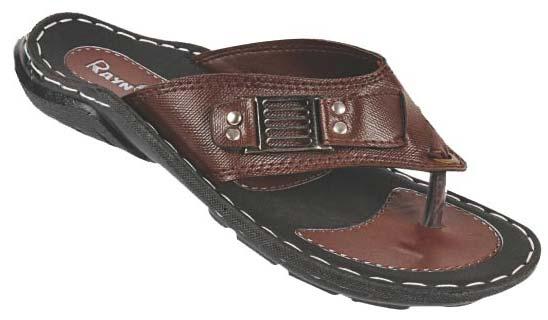 Men PU V-Shape Slippers