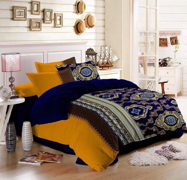 Designer Queen Size Bed Linen Set