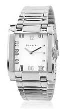 Sonata Silver Chain Mens Wrist Watches