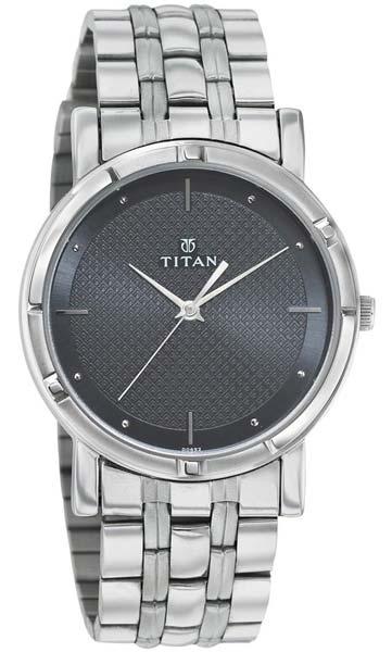 Titan Silver Chain Mens Wrist Watches