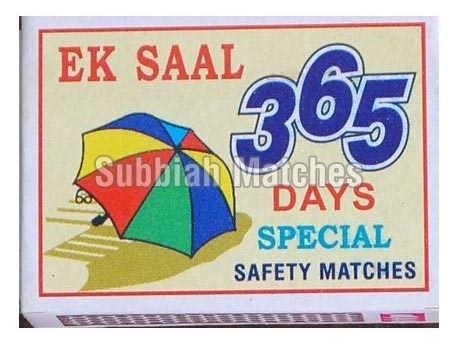 365 Safety Matches=>365 Special Safety Matchbox