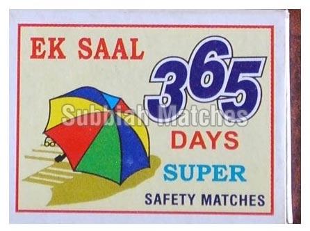365 Safety Matches=>365 Super Safety Matchbox