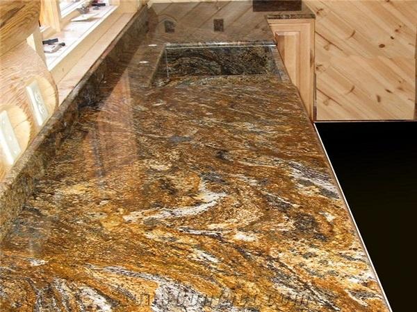 Golden Granite Slab 06