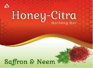 Honey Citra Saffron & Neem Bathing Bar