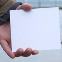 Plastic Plain Cards