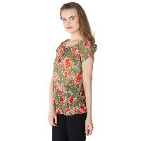 Floral Printed Balloon Tops (RN118231GR-3)