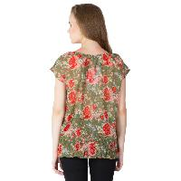 Floral Printed Balloon Tops (RN118231GR-5)