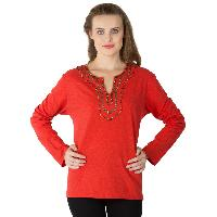 Knitted Cotton Full Sleeve Tops (RN80859-2)