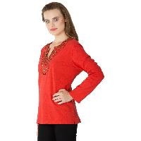 Knitted Cotton Full Sleeve Tops (RN80859-3)