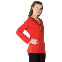 Knitted Cotton Full Sleeve Tops (RN80859-4)