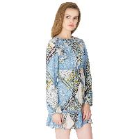 Lace Work Short One Piece Dresses (ED13320VL-4)