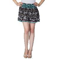 Ladies Ethnic Printed Shorts (EN70513VZ-2)