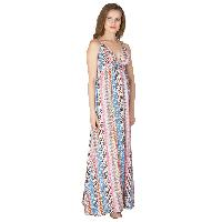 Ladies Polyester Strappy Maxi Gowns (ED10300VC-3)
