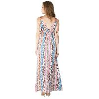 Ladies Polyester Strappy Maxi Gowns (ED10300VC-4)