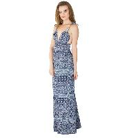 Ladies Polyester Strappy Maxi Gowns (ED10710VC-2)