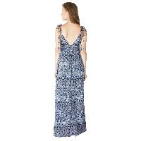 Ladies Polyester Strappy Maxi Gowns (ED10710VC-4)