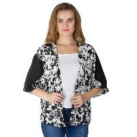 Ladies Printed Black Shrugs (6016500BLK-2)