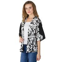 Ladies Printed Black Shrugs (6016500BLK-3)