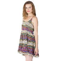 Multi Printed Strappy One Piece Dresses (ED11843VL-3)