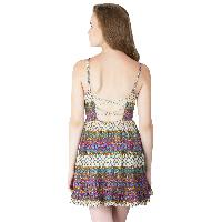 Multi Printed Strappy One Piece Dresses (ED11843VL-5)
