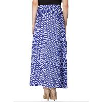 Printed A Line Long Skirts (AM020517-5)