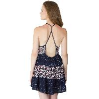 Printed Layer Strappy One Piece Dresses (ED11170VL-5)