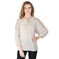 Solid Peach 3/4th Sleeves Tops (6033000PH-2)