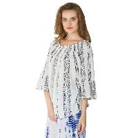 White 3/4th Sleeves Tops (ET52243VL-3)
