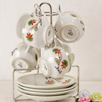 Stainless Steel Cup and Saucer Stands