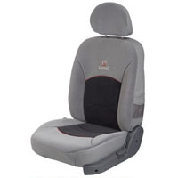 Europa Dotted Black Grey Car Seat Cover