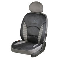 L.Touch Quilt D.Grey Car Seat Cover