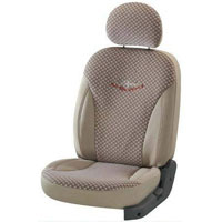 Mars Chex Beige Car Seat Cover
