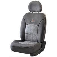 Super Suede Grey Car Seat Cover