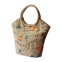 Embroidered Jute Bag
