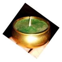 Brass Cup Wax  Candles