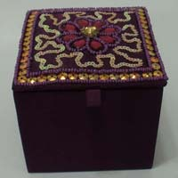 Embroidered Jewellery Box