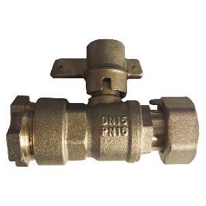 Brass Water Meter Lockable Ball Valve (NRL008)