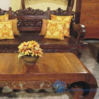 Carved Indian Bench