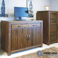 Hidden Home Office Wooden Sideboards