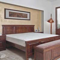 Hotel bed & Almirah
