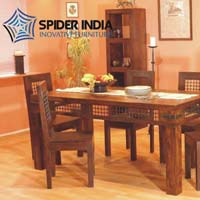 Jali Wooden Dining Tables Set