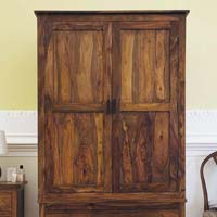 Madhu Two Piece Wooden Wardrobe