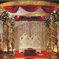 Royal Golden Crystal Wedding Mandaps